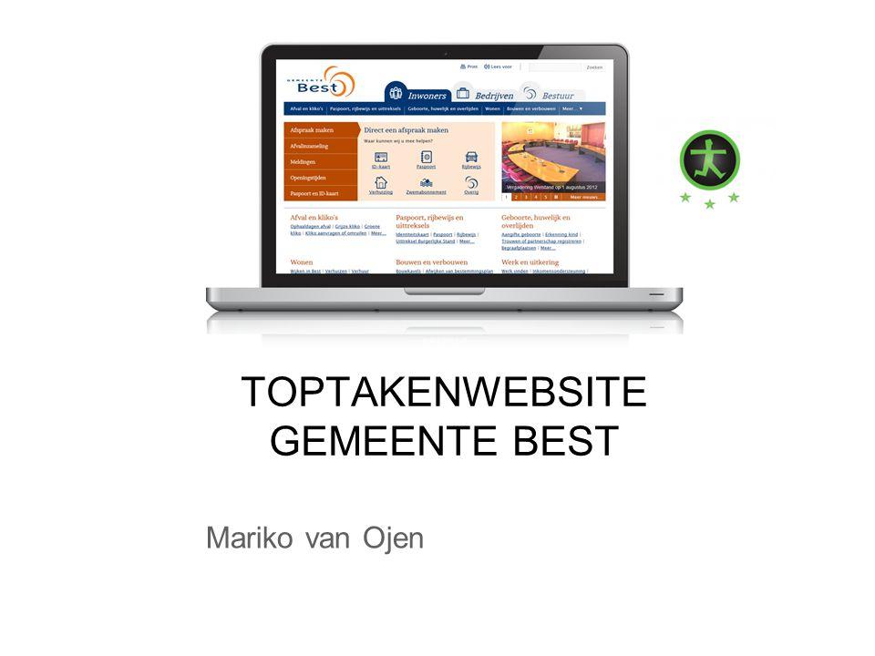 Mariko van Ojen TOPTAKENWEBSITE GEMEENTE BEST