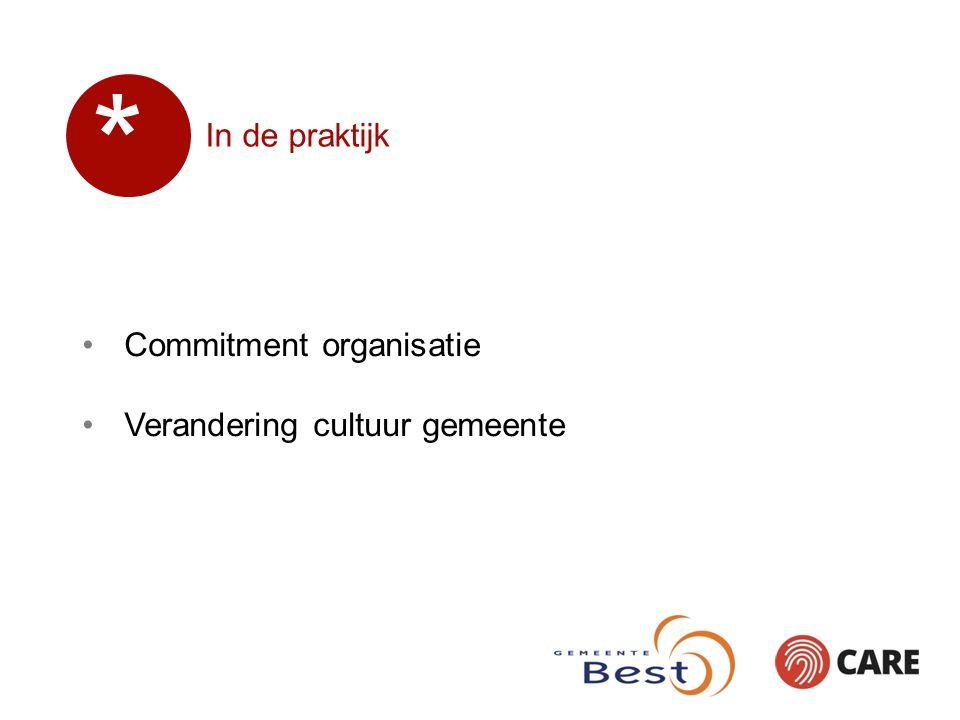 In de praktijk Commitment organisatie Verandering cultuur gemeente *