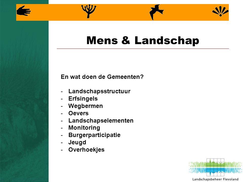 Mens & Landschap En wat doen de Gemeenten.