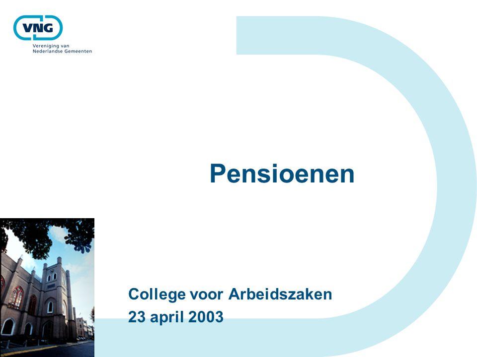 Pensioenen College voor Arbeidszaken 23 april 2003