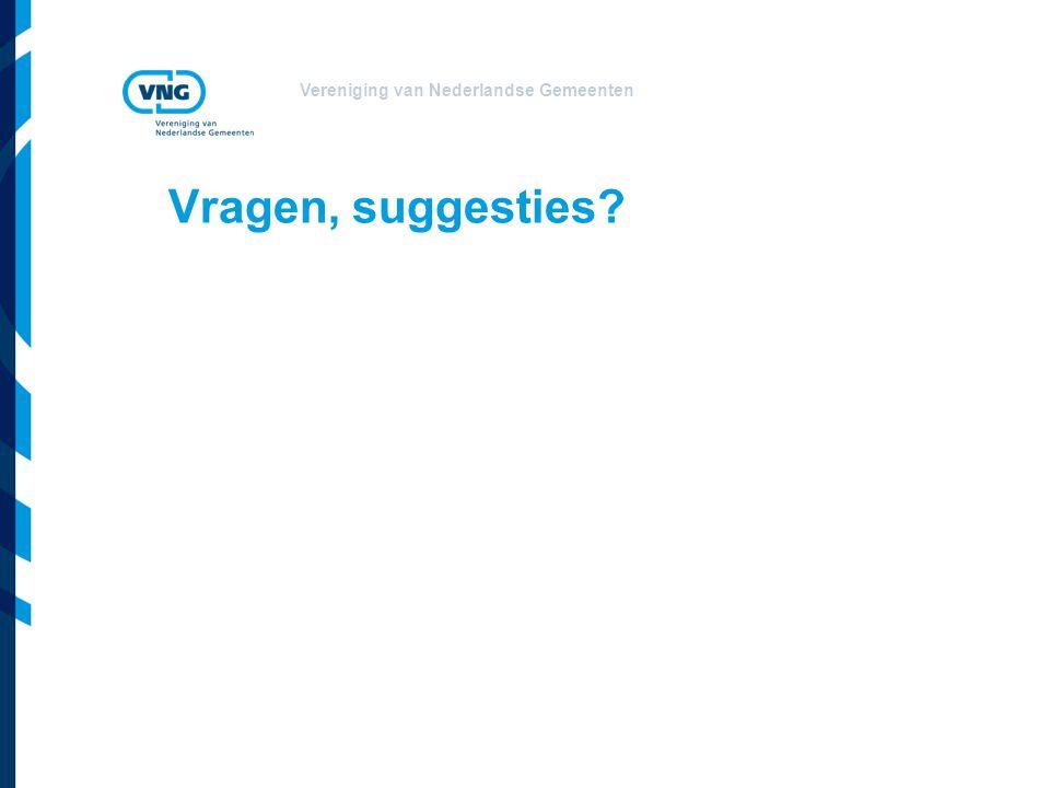 Vereniging van Nederlandse Gemeenten Vragen, suggesties?