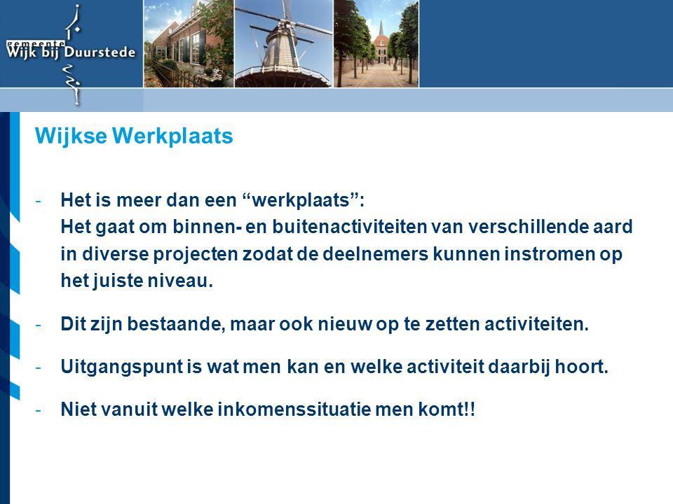 """Vereniging van Nederlandse Gemeenten -Het is meer dan een """"werkplaats"""": Het gaat om binnen- en buitenactiviteiten van verschillende aard in diverse pr"""