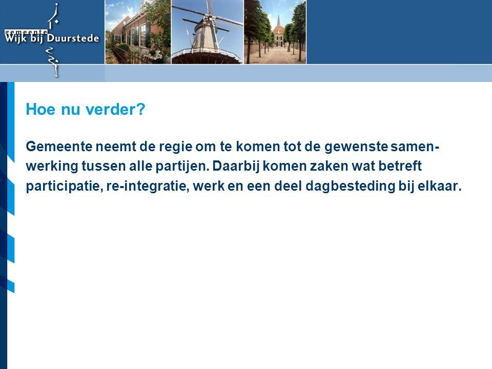 Vereniging van Nederlandse Gemeenten Gemeente neemt de regie om te komen tot de gewenste samen- werking tussen alle partijen. Daarbij komen zaken wat