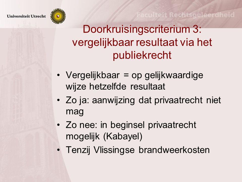 Doorkruisingscriterium 2: bescherming belangen burgers Materiële waarborgen Bevoegdheidsverdeling Processuele waarborgen