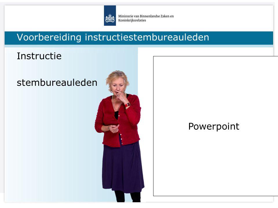 Titel van de presentatie Voorbereiding: stemlokalen Keuze stemlokalen * voldoende * let op locatie (druk?), * is ruimte wel geschikt Toegankelijkheid.