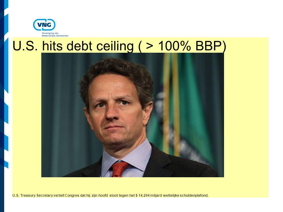 Vereniging van Nederlandse Gemeenten U.S. hits debt ceiling ( > 100% BBP) U.S.