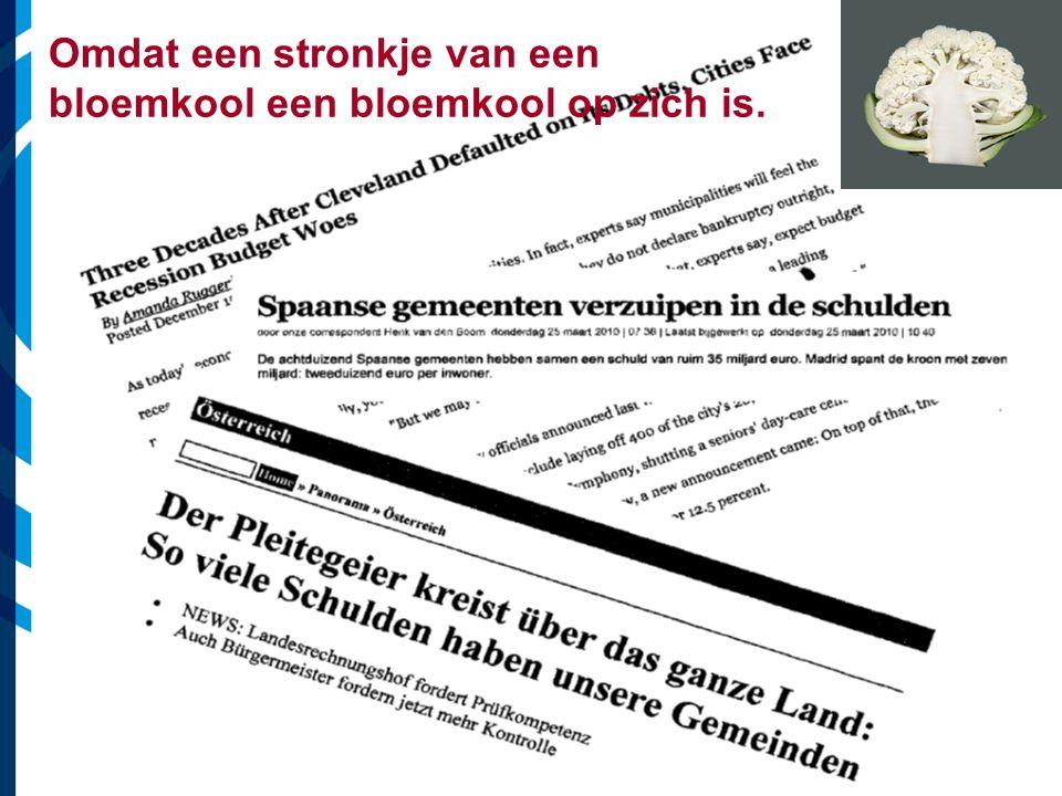 Vereniging van Nederlandse Gemeenten Omdat een stronkje van een bloemkool een bloemkool op zich is.