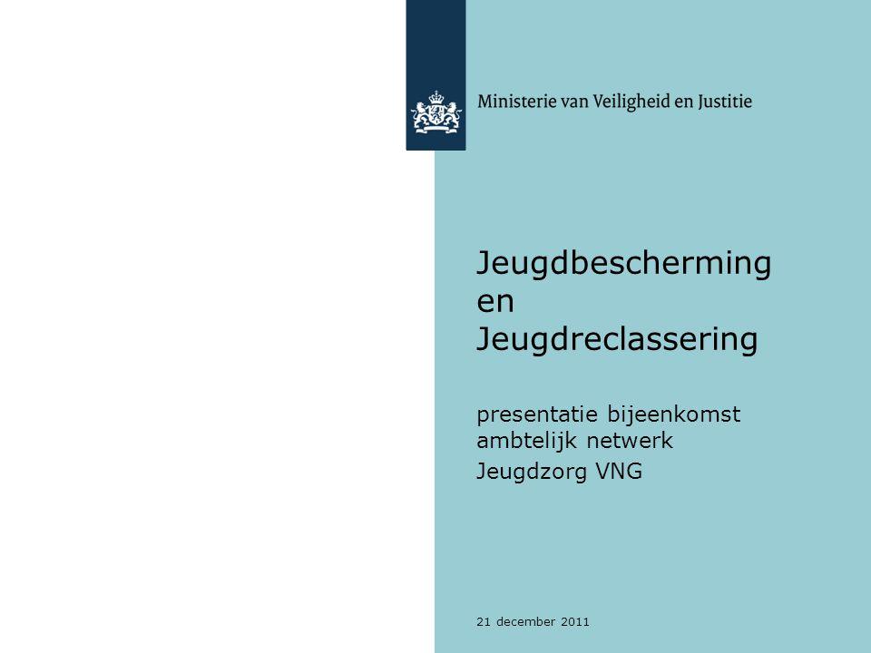 21 december 2011 Jeugdbescherming en Jeugdreclassering presentatie bijeenkomst ambtelijk netwerk Jeugdzorg VNG