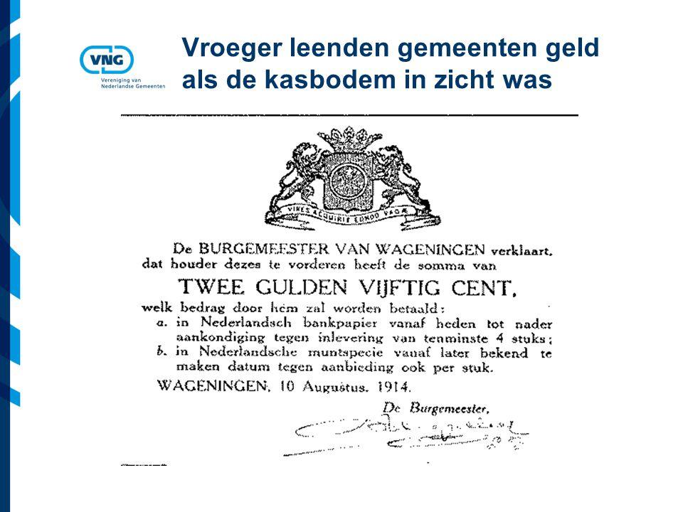 Vereniging van Nederlandse Gemeenten Vroeger gingen debatten in de raad over schuld Gemeente Brunssum 1818 Schuld van 10 x begrotingsomvang