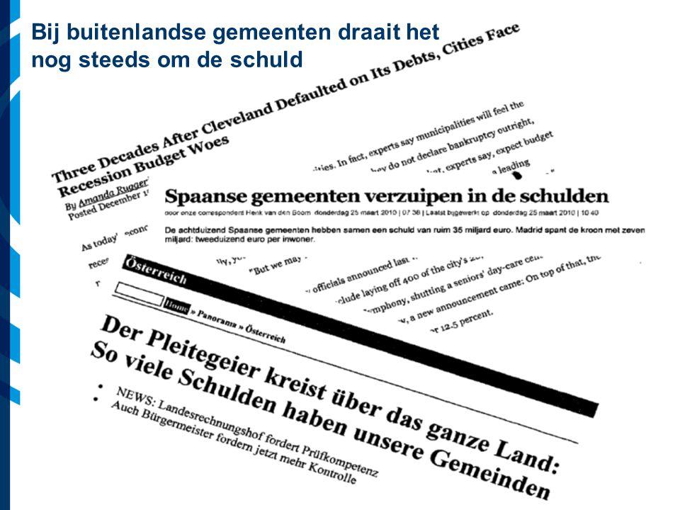 Vereniging van Nederlandse Gemeenten Hoe kom je van hoge schulden af.