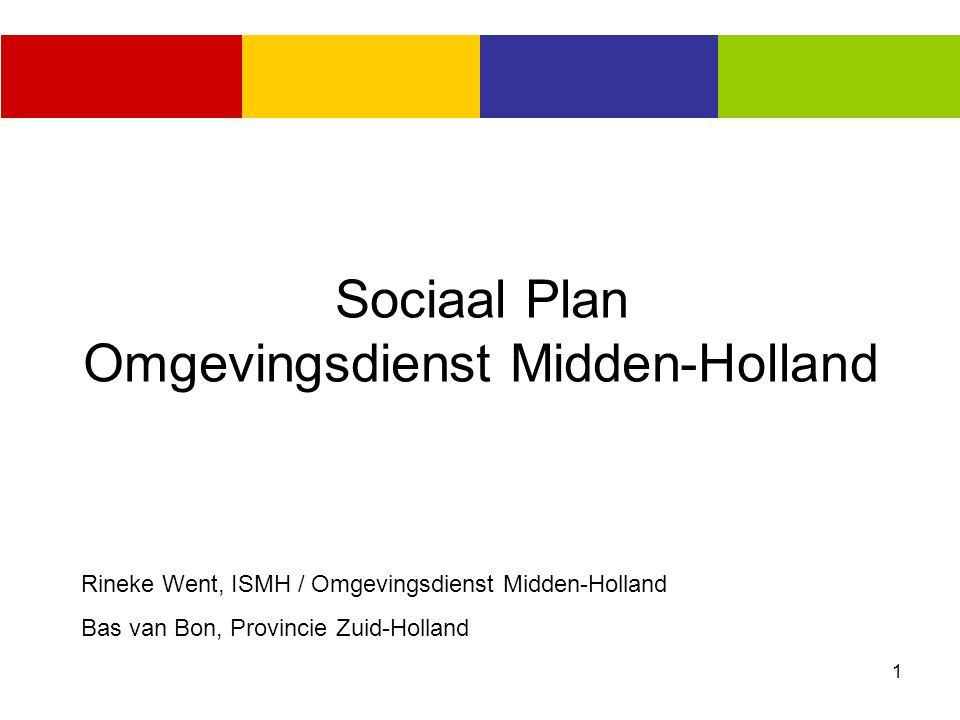 1 Sociaal Plan Omgevingsdienst Midden-Holland Rineke Went, ISMH / Omgevingsdienst Midden-Holland Bas van Bon, Provincie Zuid-Holland