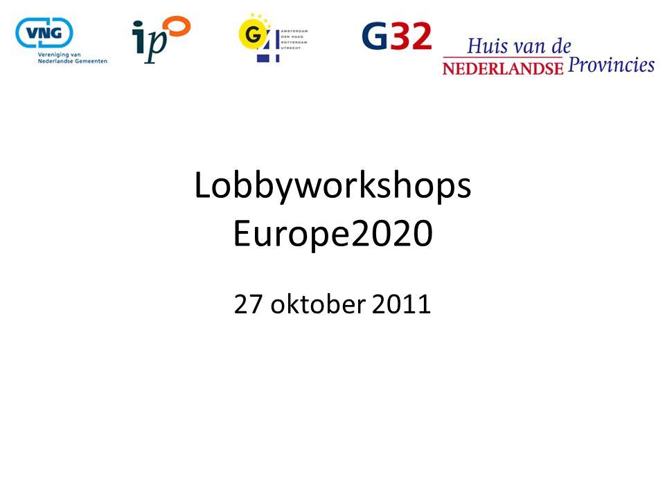 Lobbyworkshops Europe2020 27 oktober 2011