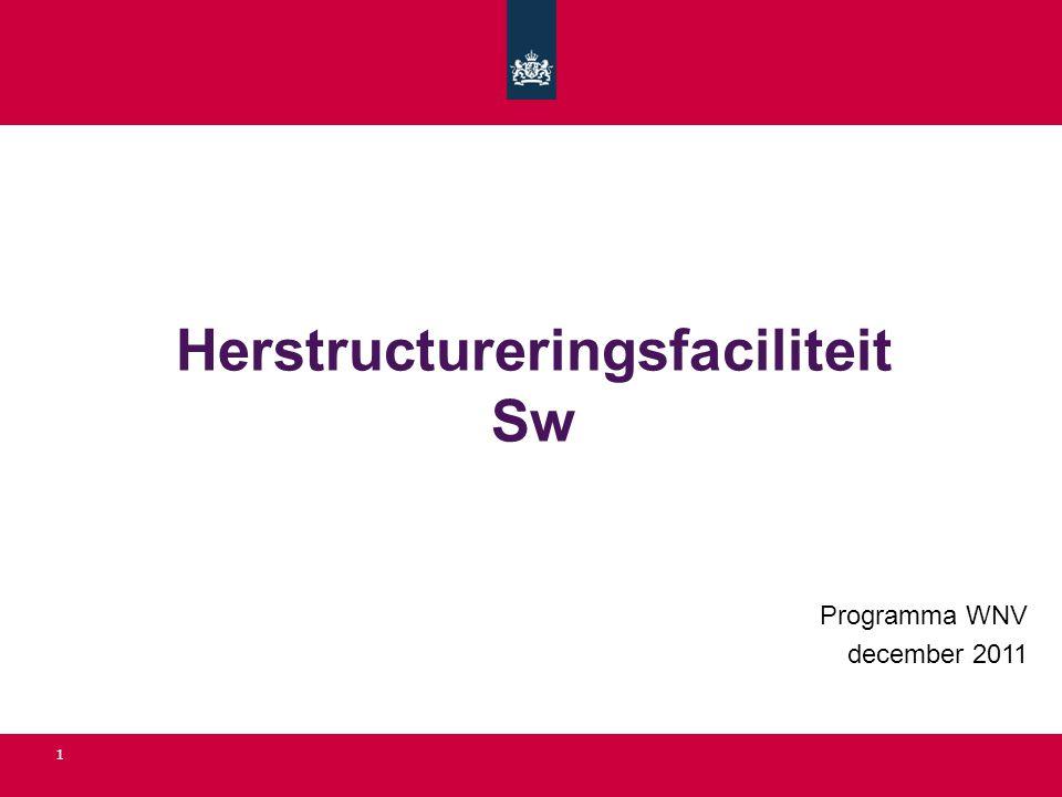 Herstructureringsfaciliteit Sw Programma WNV december 2011 1