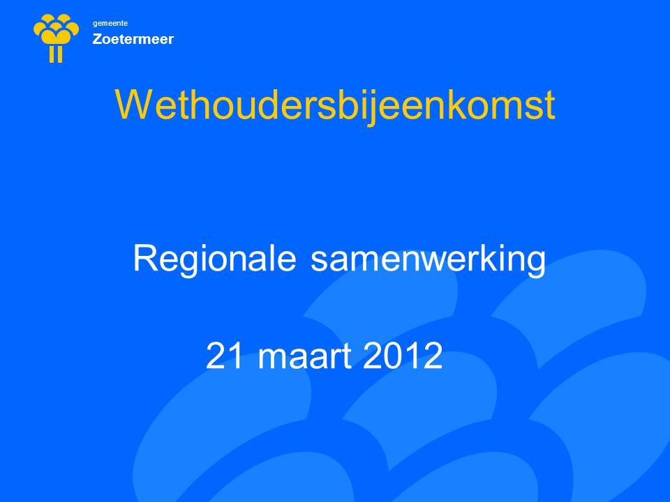 gemeente Zoetermeer 3 Decentralisaties Nieuwe taken en bevoegdheden Opschaling en samenwerking door gemeenten Deels omdat het moet (Jeugdzorg, WwnV)