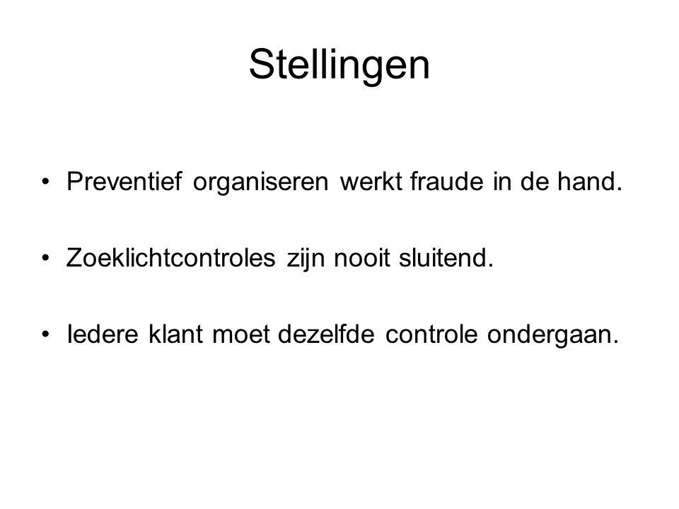 Stellingen Preventief organiseren werkt fraude in de hand.