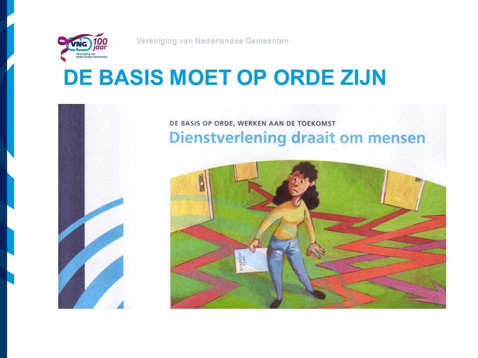 Vereniging van Nederlandse Gemeenten DE BASIS MOET OP ORDE ZIJN