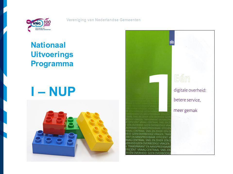 Vereniging van Nederlandse Gemeenten Nationaal Uitvoerings Programma I – NUP