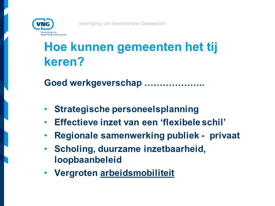 Vereniging van Nederlandse Gemeenten Hoe kunnen gemeenten het tij keren? Goed werkgeverschap ……………….. Strategische personeelsplanning Effectieve inzet