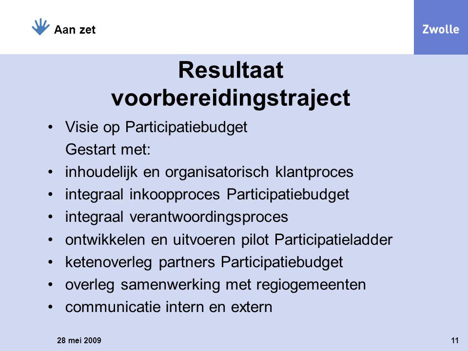 Visie op Participatiebudget Gestart met: inhoudelijk en organisatorisch klantproces integraal inkoopproces Participatiebudget integraal verantwoording