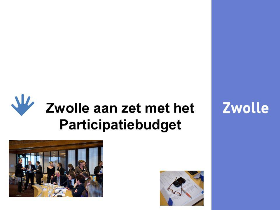 29-7-20148 kijk Zwolle aan zet met het Participatiebudget