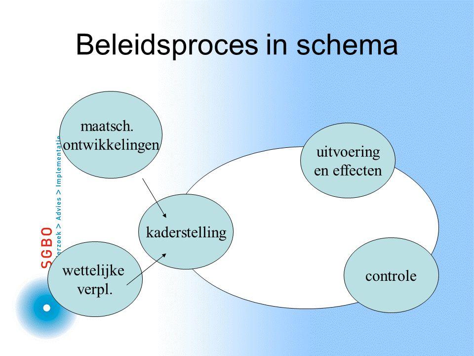 Beleidsproces in schema kaderstelling maatsch.