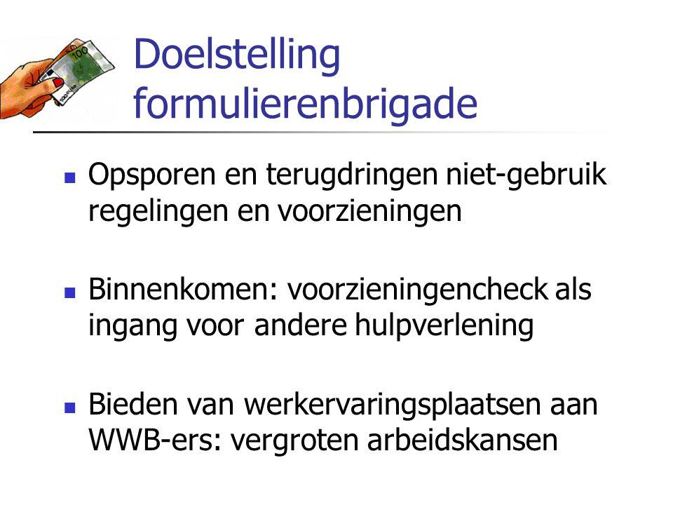 Werving cliënten Voorlichting verwijzers potentiële cliënten ATC (nieuwe WWB-ers) Posters en folders Publiciteit in kranten en wijkbladen Adressen van de gemeente Arnhem