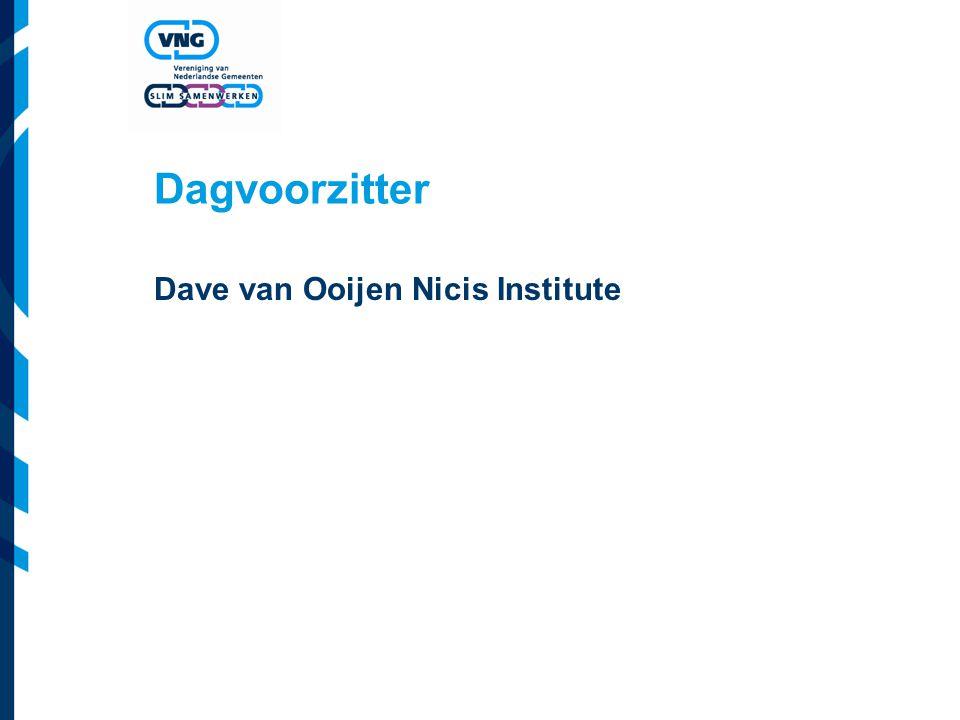 Dagvoorzitter Dave van Ooijen Nicis Institute