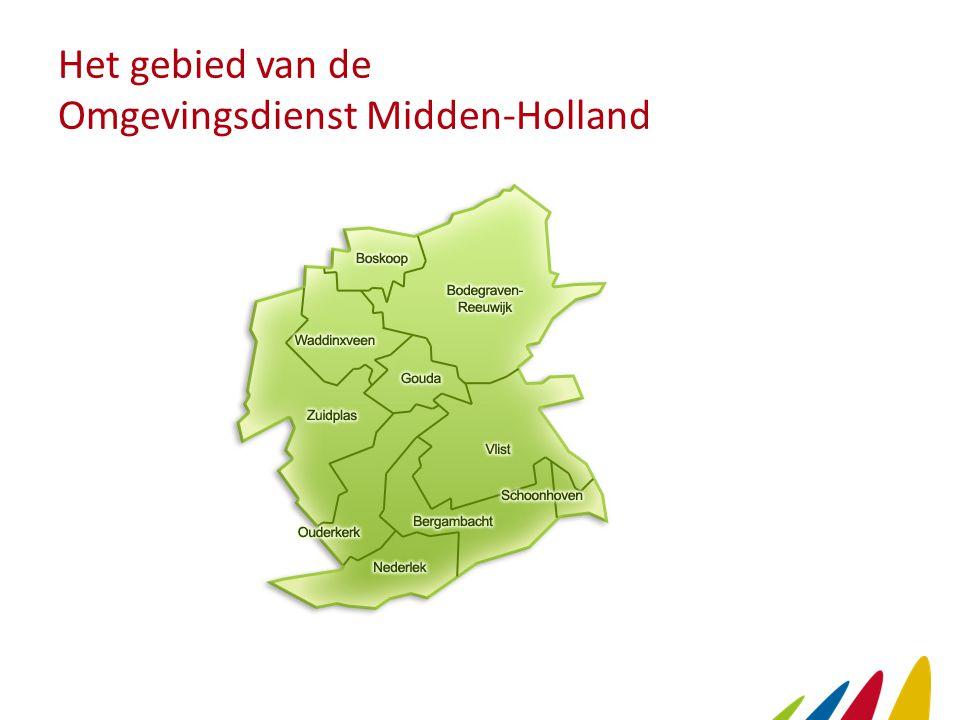 Het gebied van de Omgevingsdienst Midden-Holland