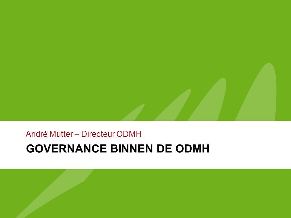 GOVERNANCE BINNEN DE ODMH André Mutter – Directeur ODMH