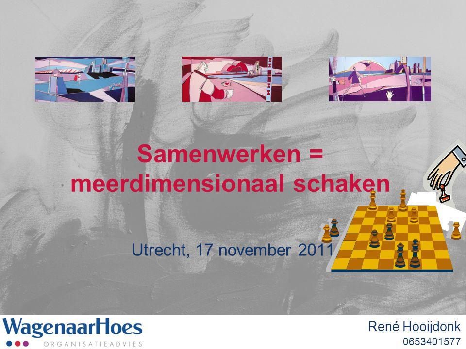 Samenwerken = meerdimensionaal schaken Utrecht, 17 november 2011 René Hooijdonk 0653401577