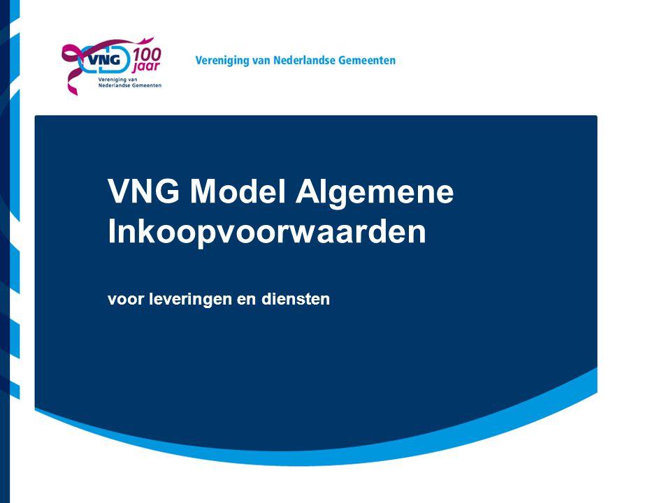 VNG Model Algemene Inkoopvoorwaarden voor leveringen en diensten
