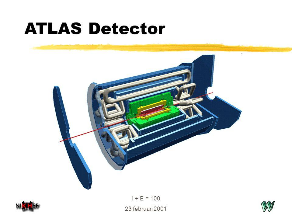 I + E = 100 23 februari 2001 ATLAS Detector