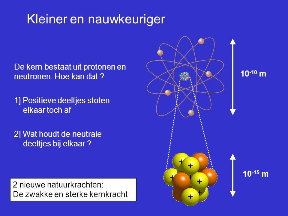 proton neutron down up Natuur opgebouwd uit maar 3 bouwstenen:  up-quarks, down quark en electron up down up
