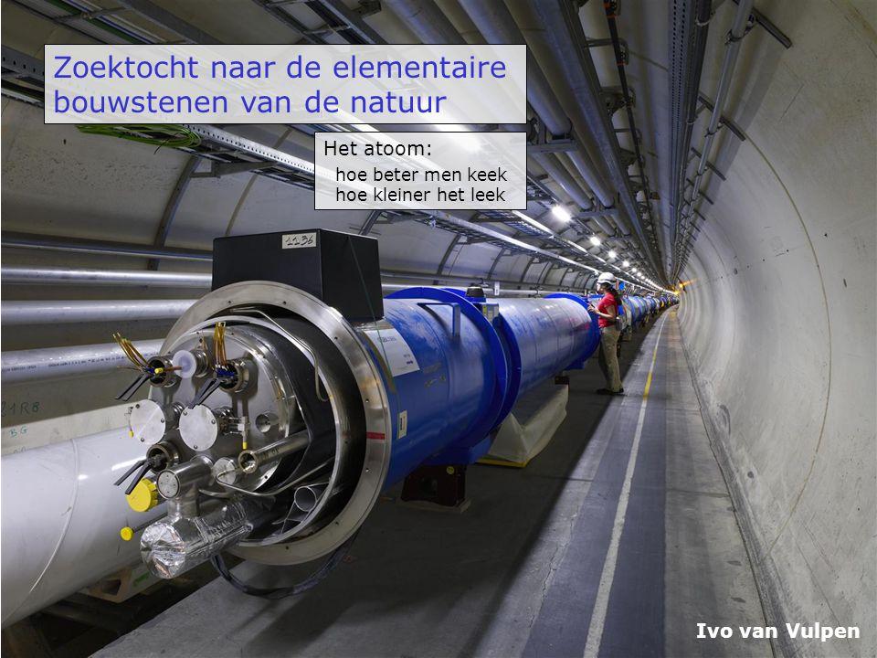 Zoektocht naar de elementaire bouwstenen van de natuur Ivo van Vulpen Het atoom: hoe beter men keek hoe kleiner het leek