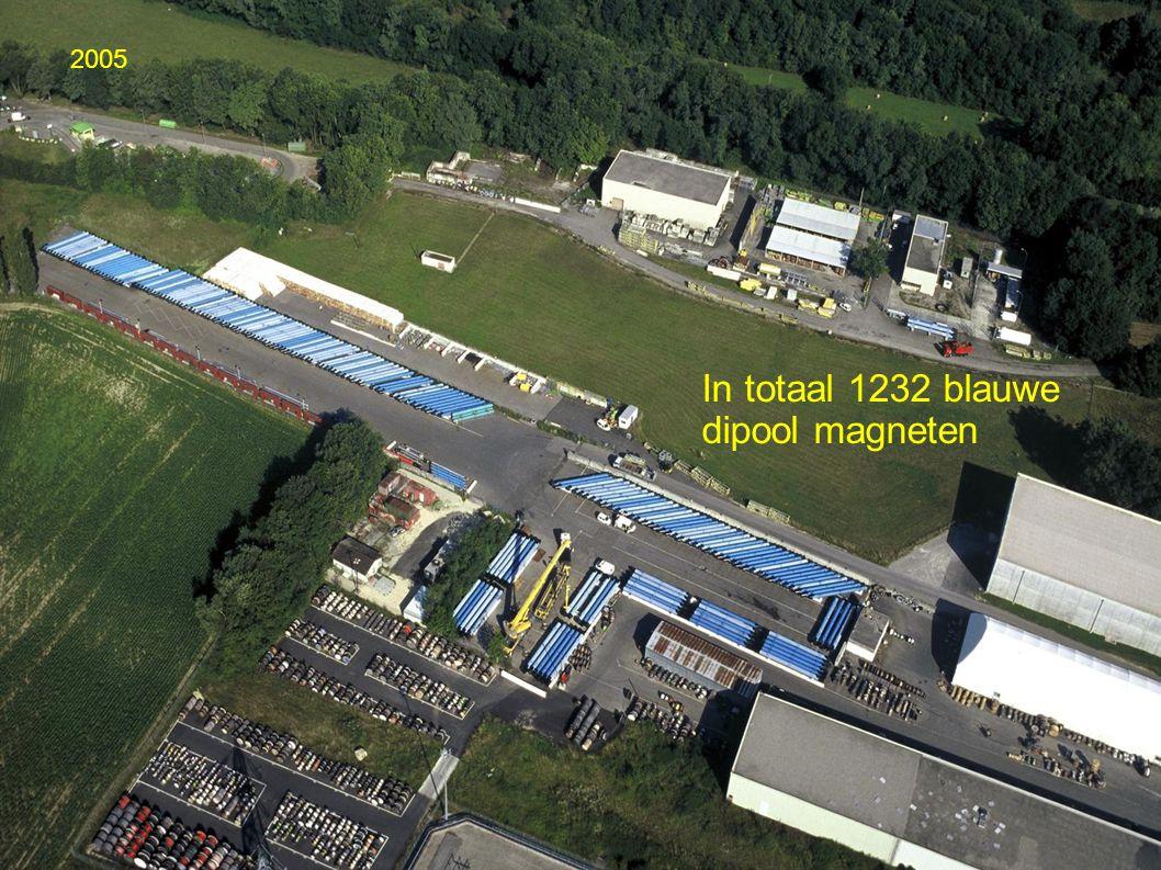 In totaal 1232 blauwe dipool magneten 2005