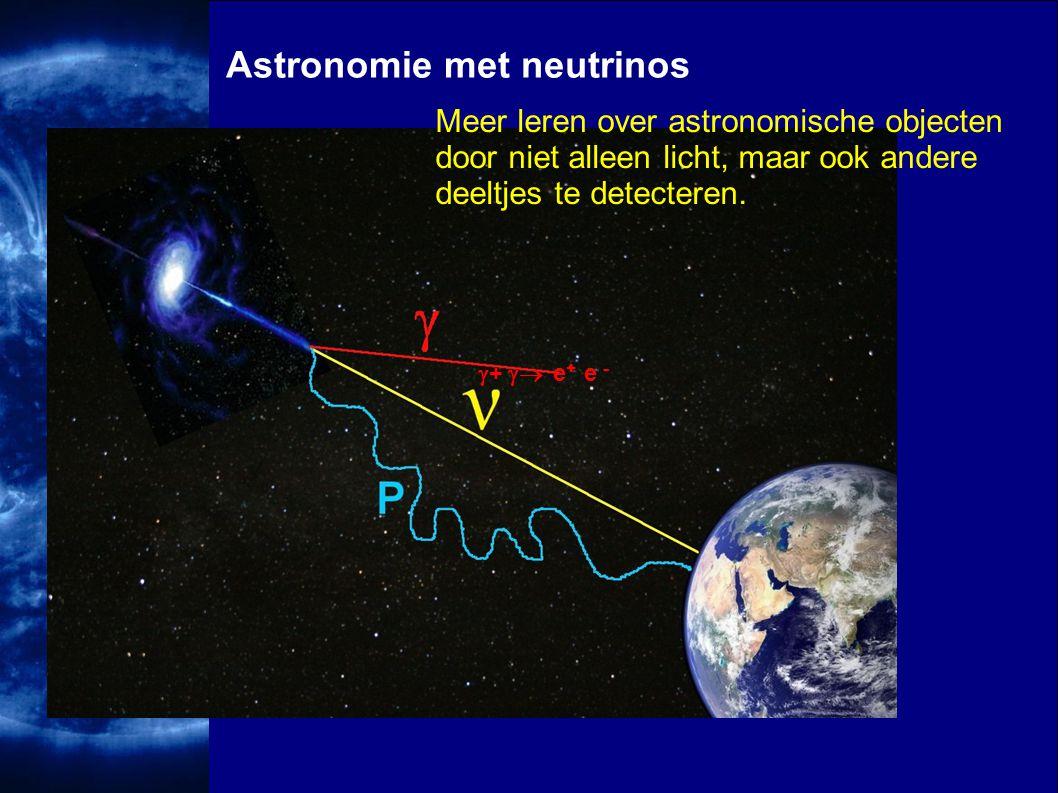 Uppsala 2000Ivo van Vulpen33  +  e + e - Astronomie met neutrinos Meer leren over astronomische objecten door niet alleen licht, maar ook andere de