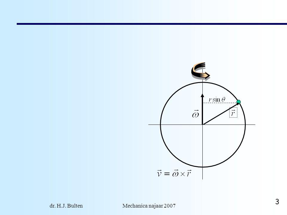 dr.H.J. Bulten Mechanica najaar 2007 14 Auto aandrijving: typisch 2 wielen.