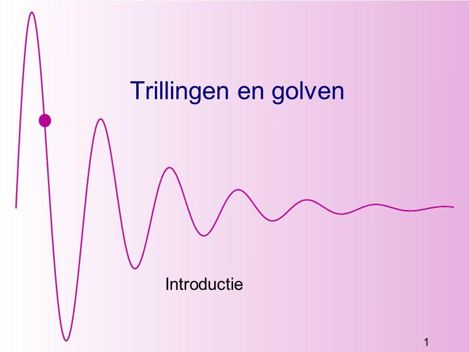 122 Trillingen en golven Blok 15 Snelheid, Superpositie en Dispersie Uit Giancoli 15.1-15.6, Syllabus H7.5, 7.6