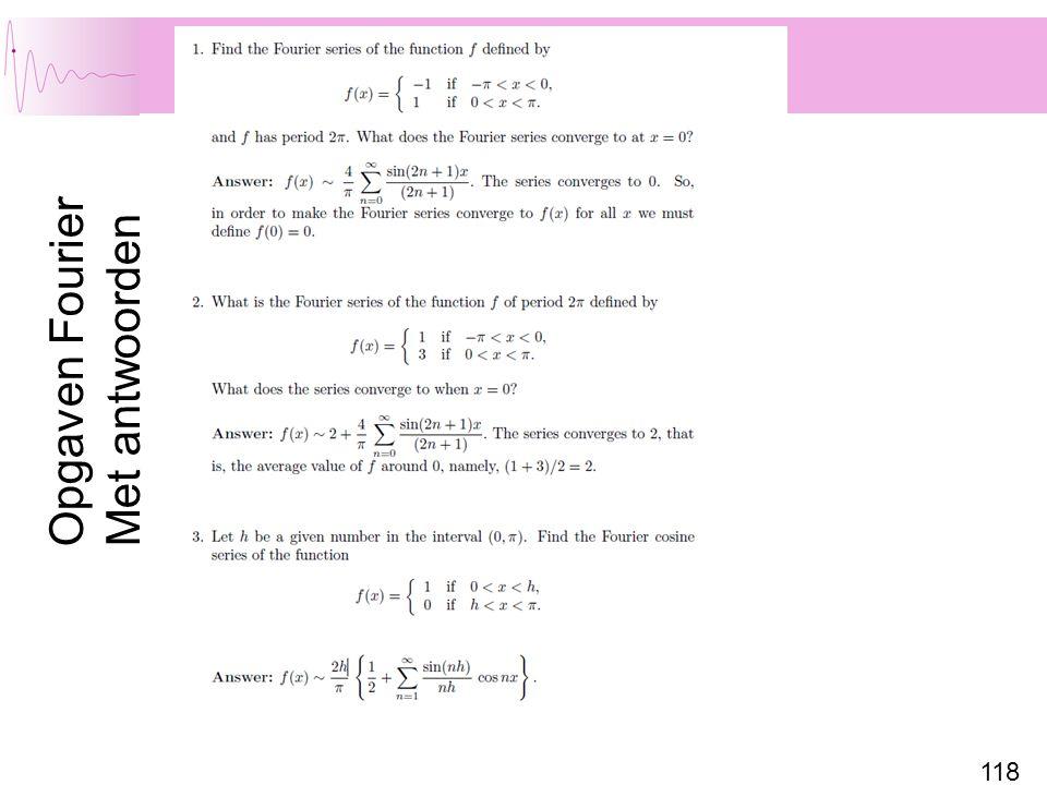 118 Opgaven Fourier Met antwoorden