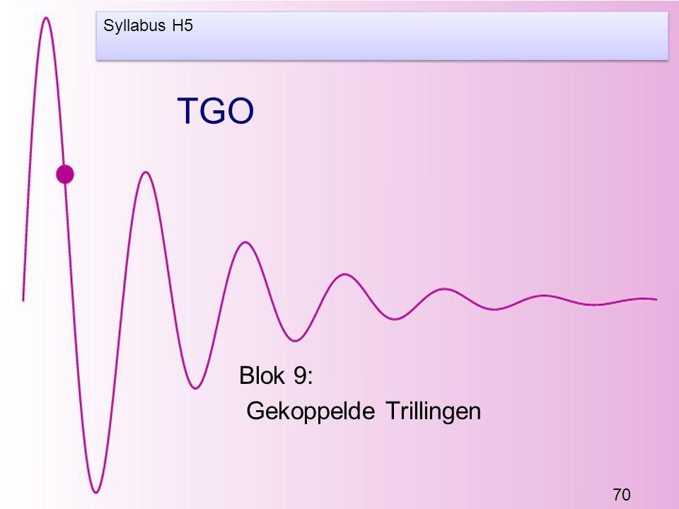 70 TGO Blok 9: Gekoppelde Trillingen Syllabus H5