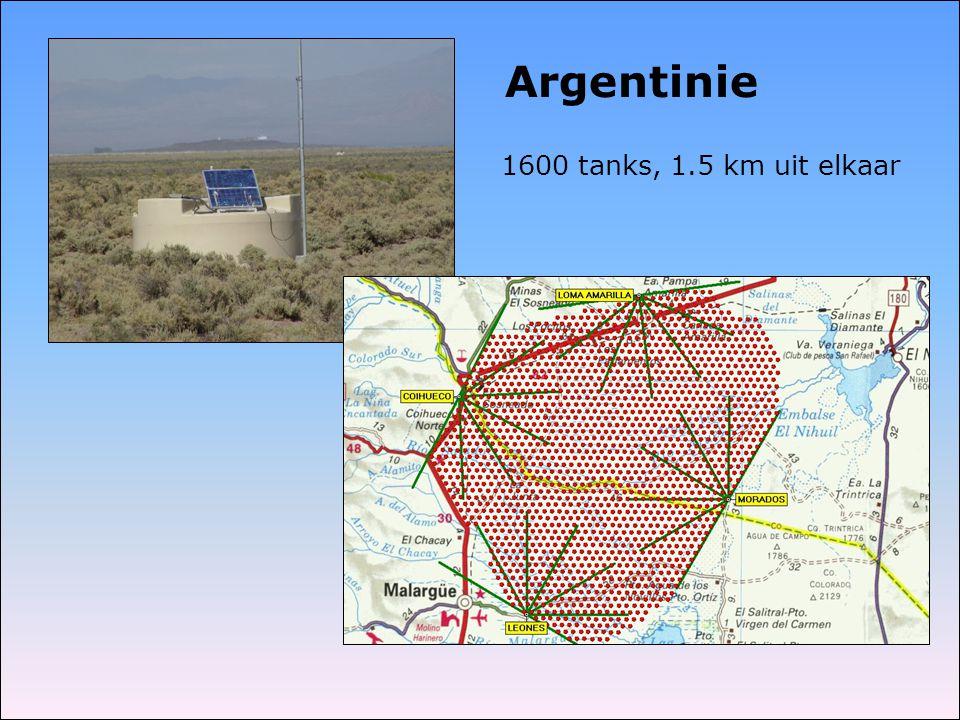 1600 tanks, 1.5 km uit elkaar Argentinie