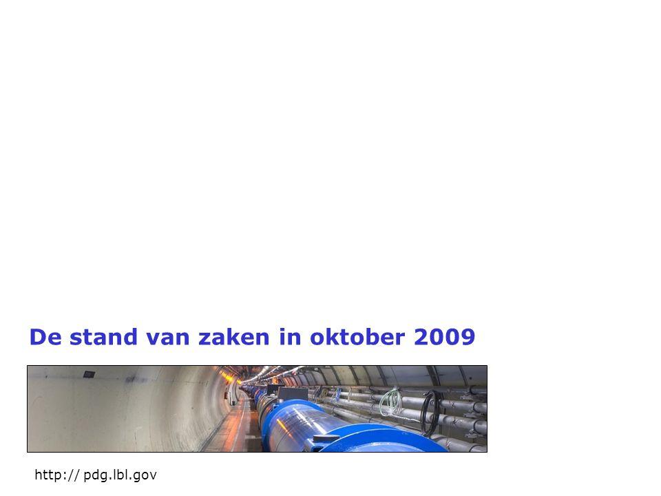De stand van zaken in oktober 2009 http:// pdg.lbl.gov