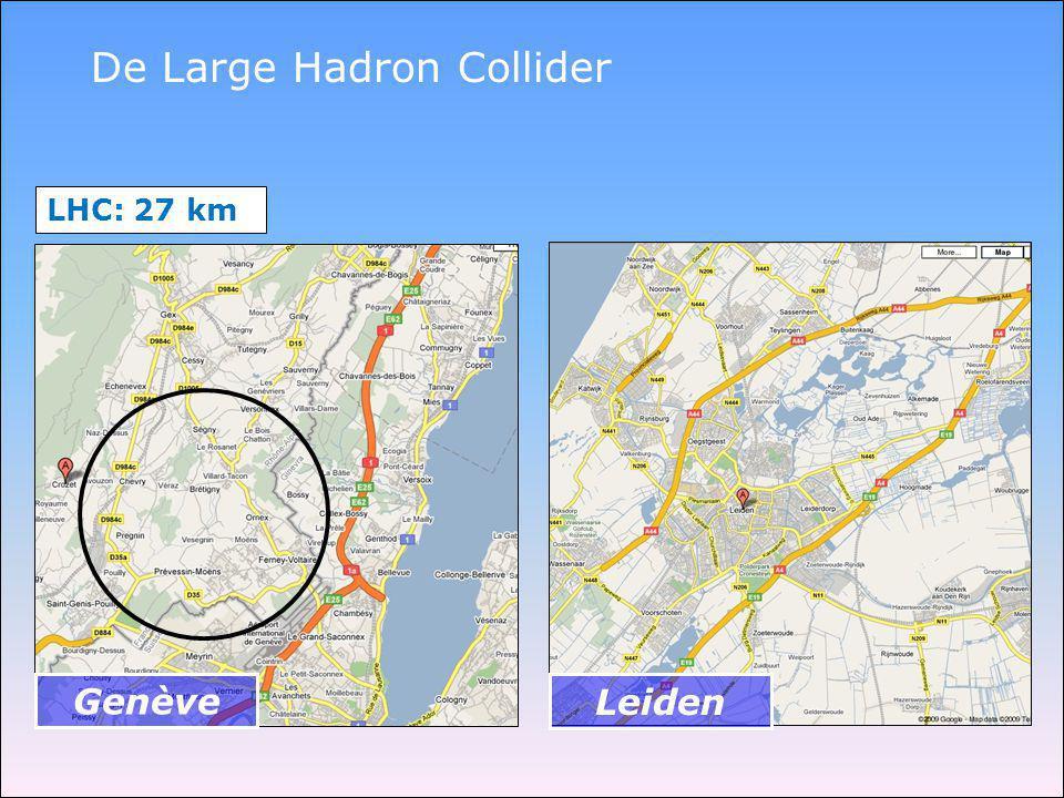 LHC: 27 km Genève Leiden De Large Hadron Collider