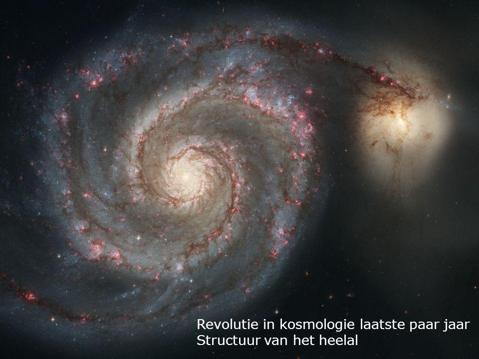 Revolutie in kosmologie laatste paar jaar Structuur van het heelal