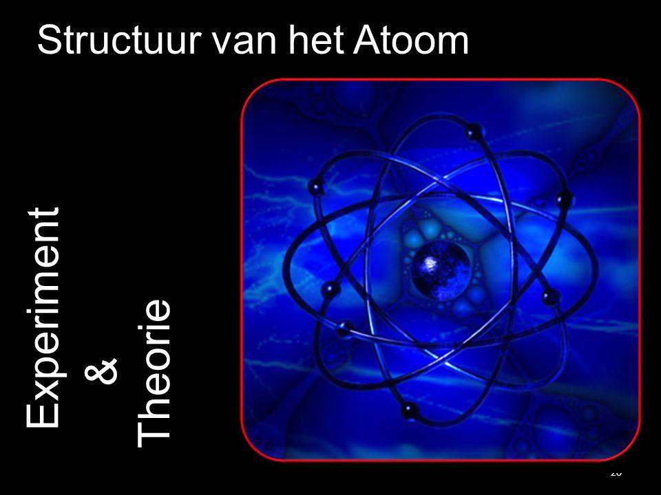 20 Experiment Structuur van het Atoom Theorie &
