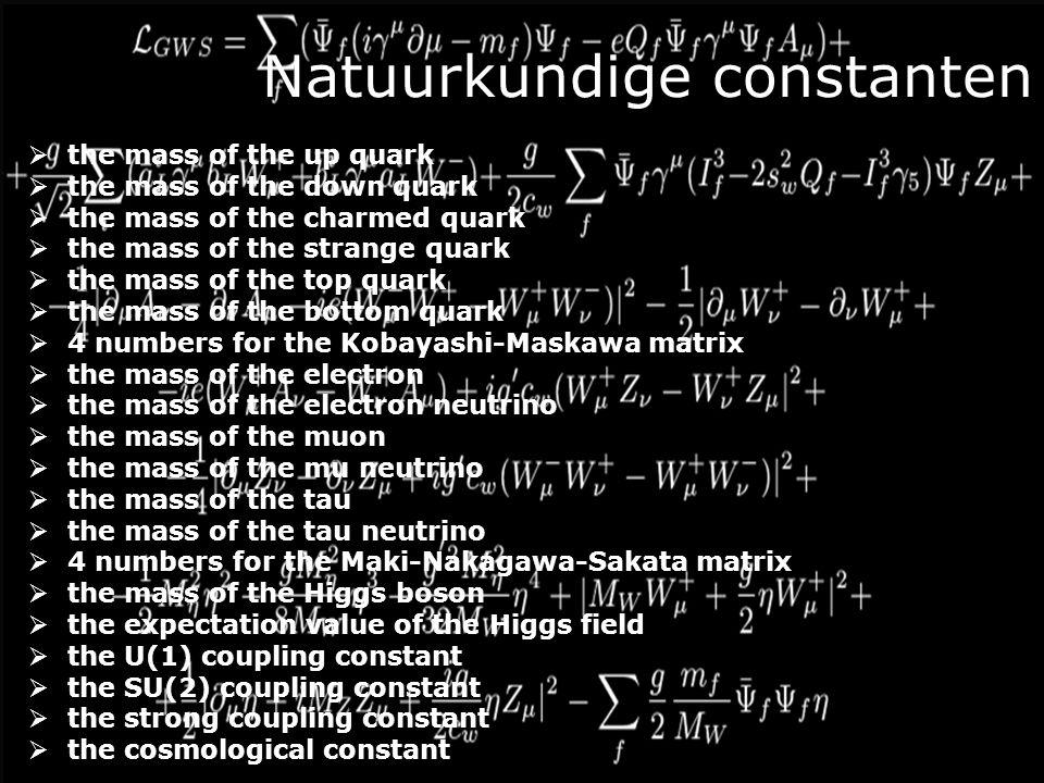Toeval of Creatie? M proton =1.6726215810 -27 kg Kernkrachten M neutron =1.6749272110 -27 kg