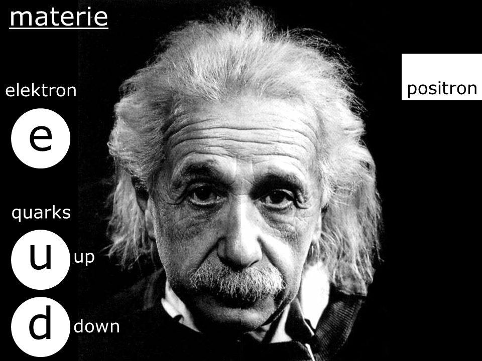 anti-materie anti elektron anti quarks u d e anti up anti down materie elektron quarks u d e up down positron