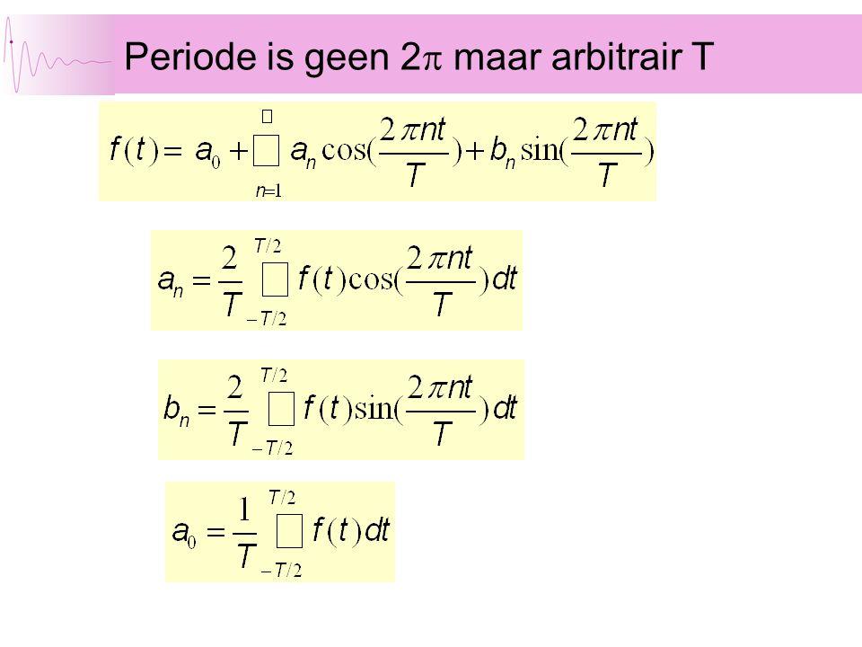 Periode is geen 2  maar arbitrair T