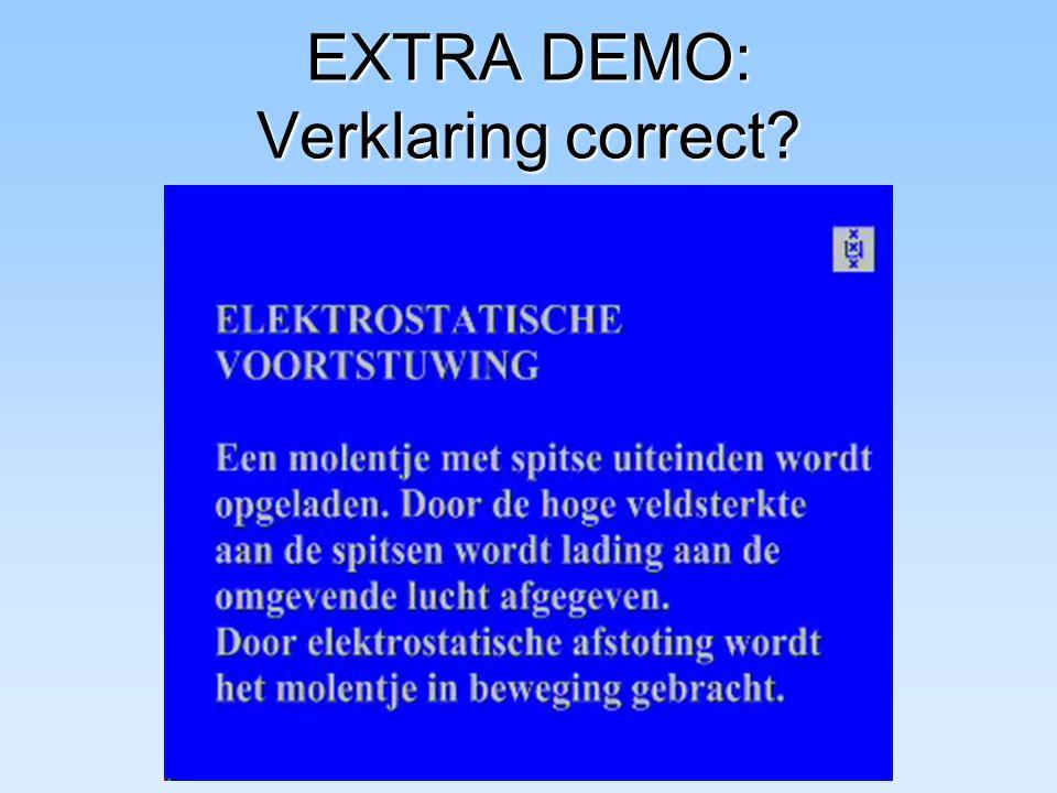 EXTRA DEMO: Verklaring correct?