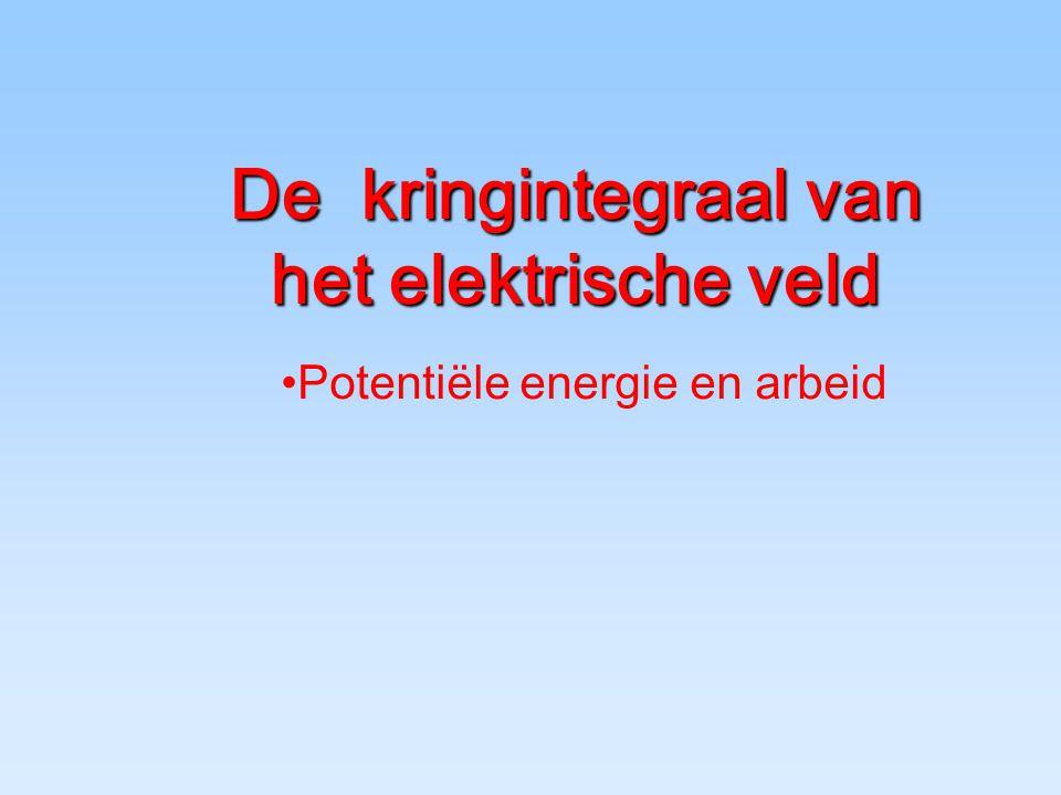 De kringintegraal van het elektrische veld Potentiële energie en arbeid